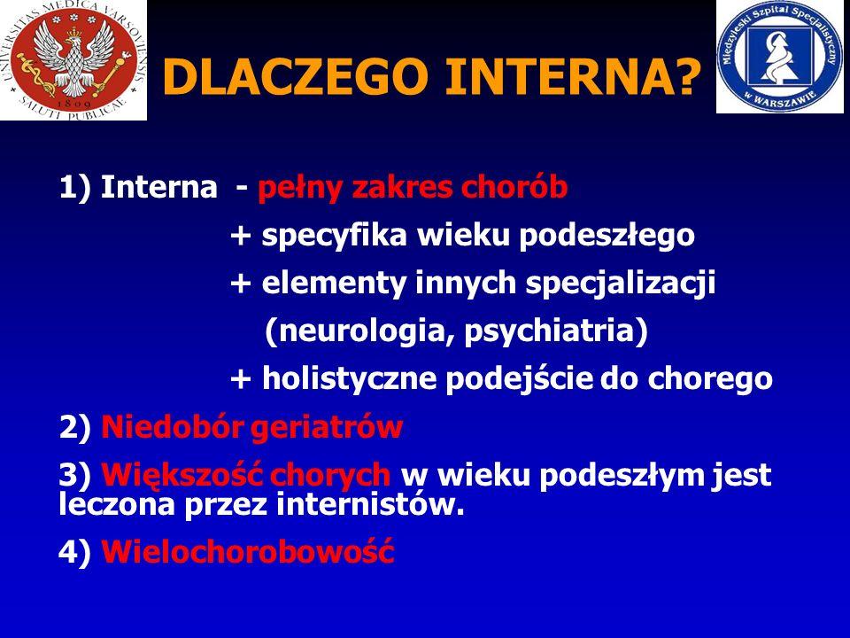 DLACZEGO INTERNA 1) Interna - pełny zakres chorób