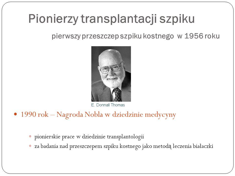 Pionierzy transplantacji szpiku