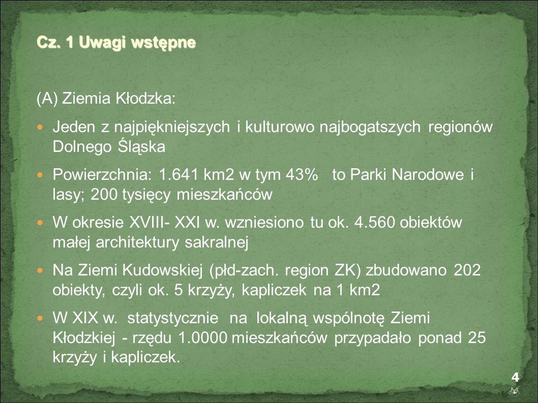 Cz. 1 Uwagi wstępne (A) Ziemia Kłodzka: Jeden z najpiękniejszych i kulturowo najbogatszych regionów Dolnego Śląska.