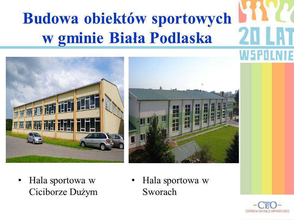 Budowa obiektów sportowych w gminie Biała Podlaska