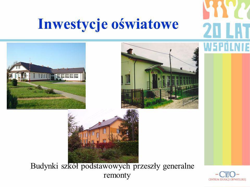 Budynki szkół podstawowych przeszły generalne remonty