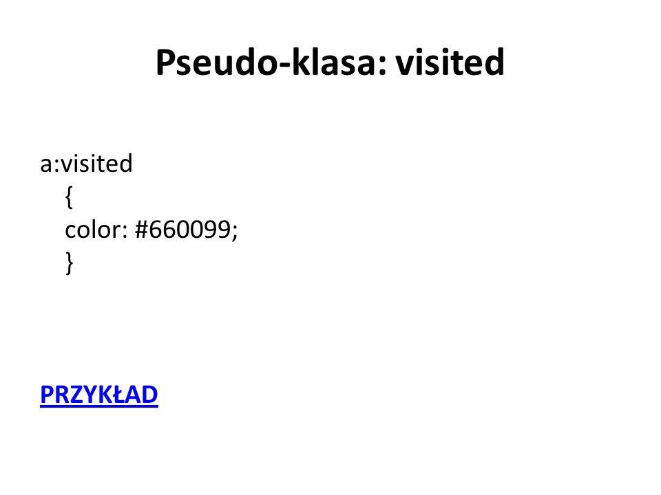 Pseudo-klasa: visited