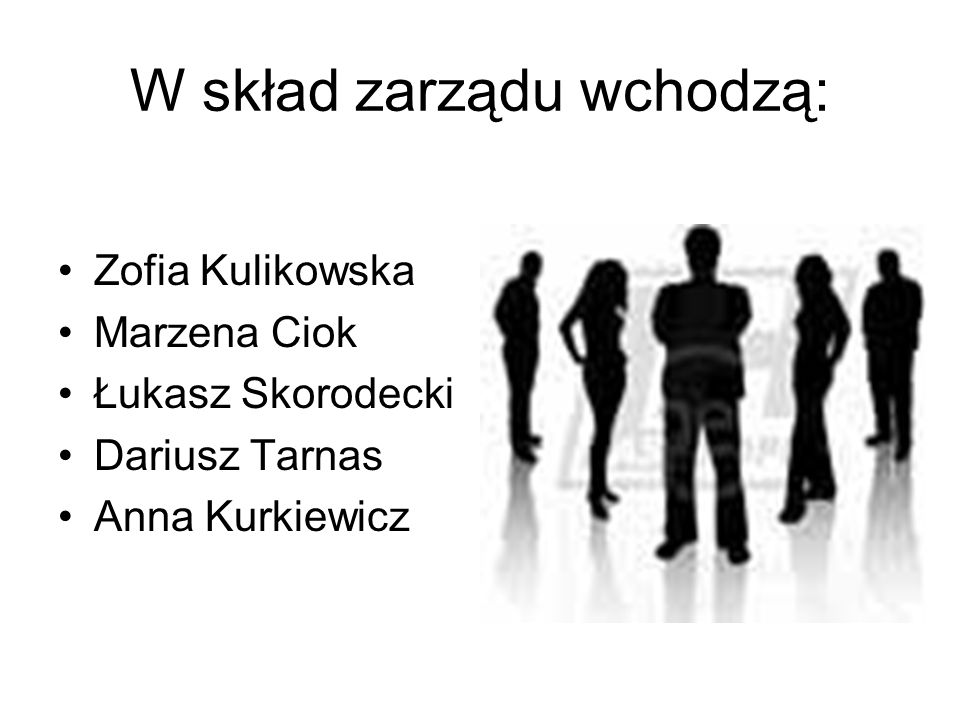 W skład zarządu wchodzą: