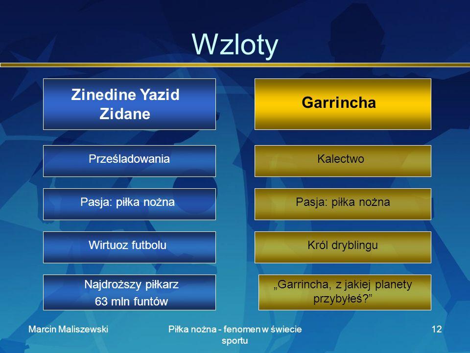 Wzloty Zinedine Yazid Zidane Garrincha Prześladowania Kalectwo