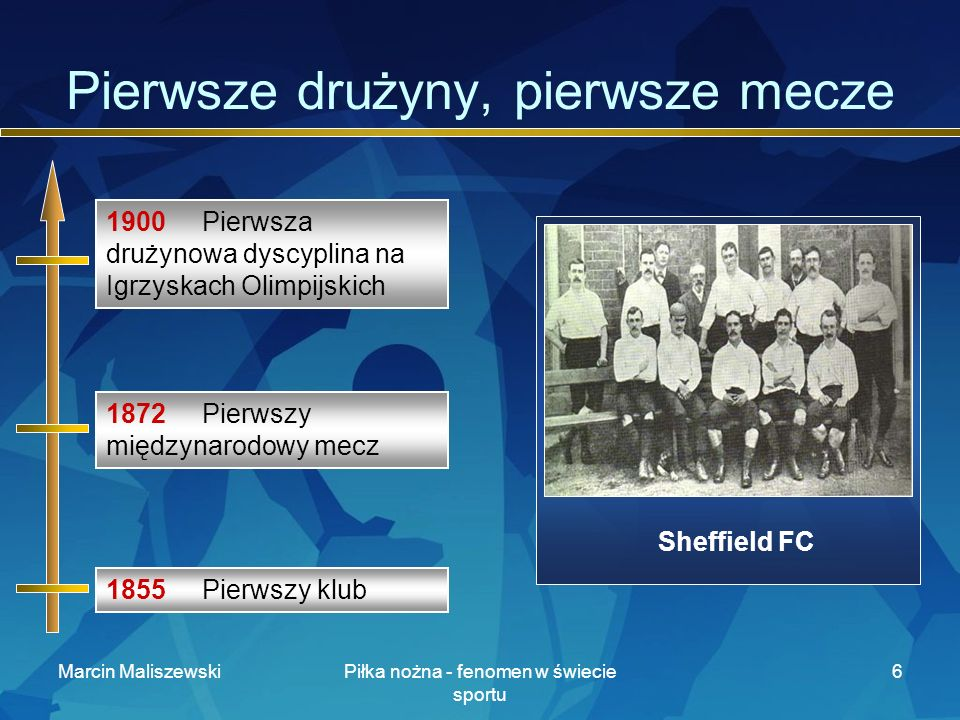 Pierwsze drużyny, pierwsze mecze