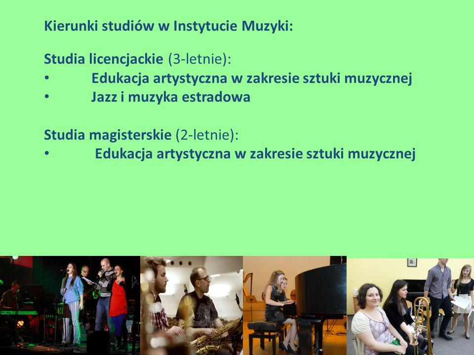 Kierunki studiów w Instytucie Muzyki: