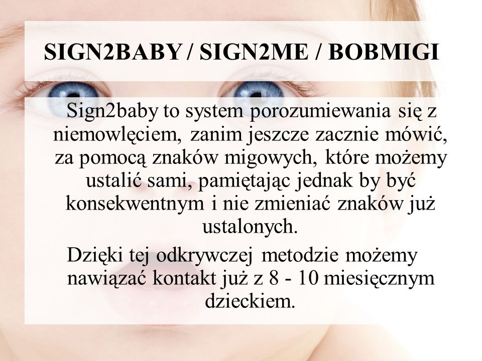 SIGN2BABY / SIGN2ME / BOBMIGI