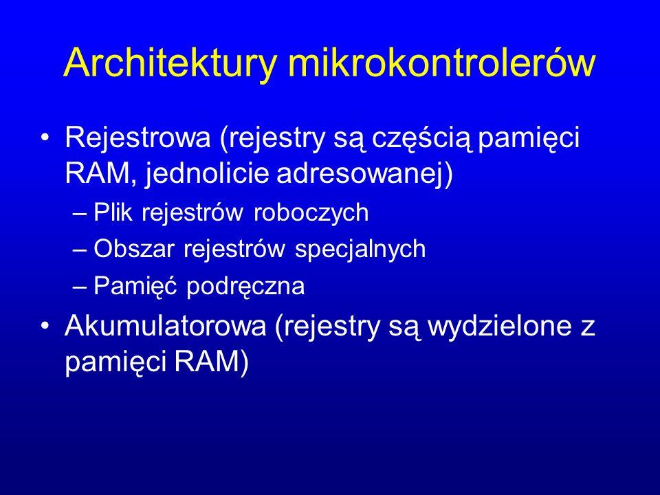 Architektury mikrokontrolerów