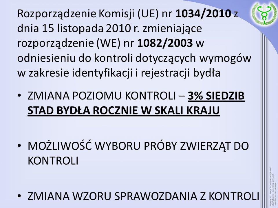 Rozporządzenie Komisji (UE) nr 1034/2010 z dnia 15 listopada 2010 r