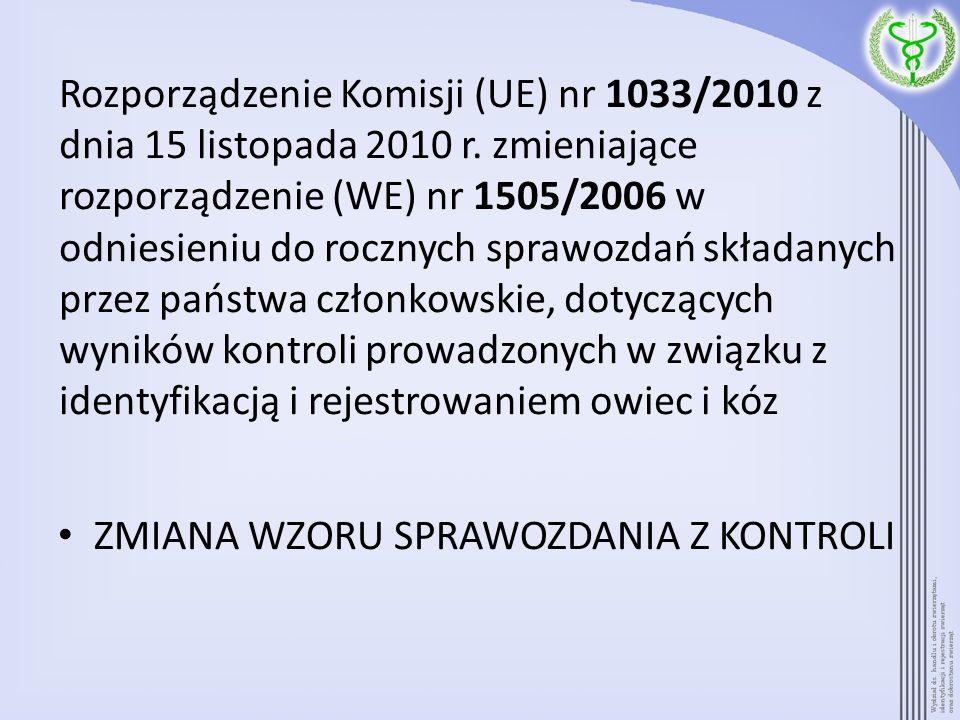 Rozporządzenie Komisji (UE) nr 1033/2010 z dnia 15 listopada 2010 r