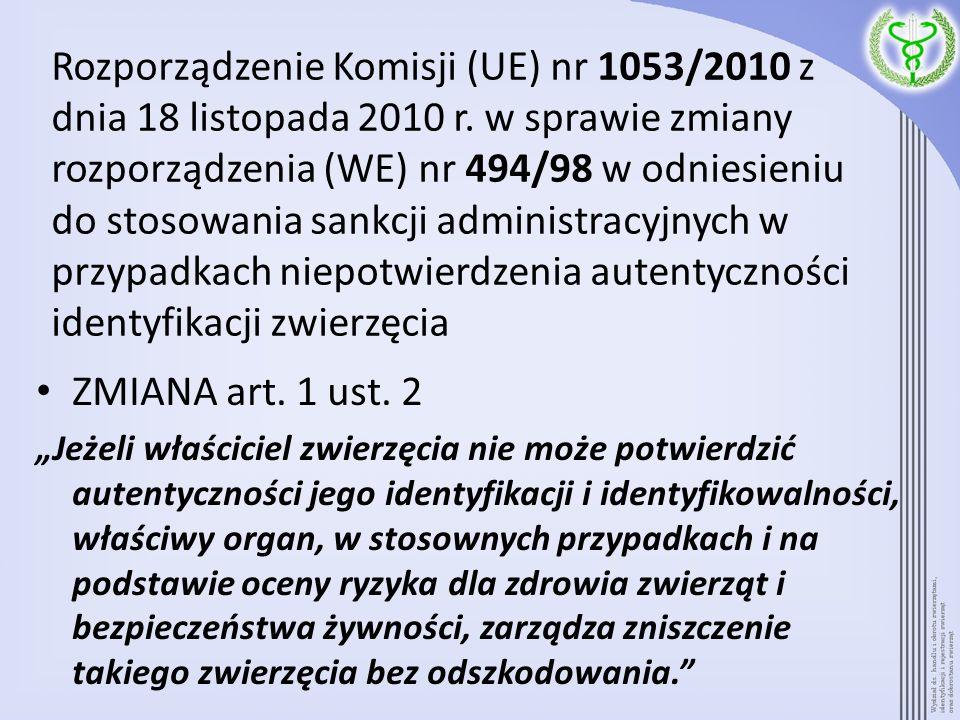Rozporządzenie Komisji (UE) nr 1053/2010 z dnia 18 listopada 2010 r