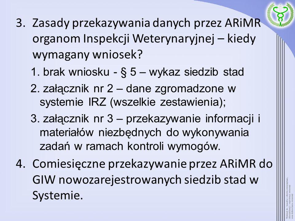Zasady przekazywania danych przez ARiMR organom Inspekcji Weterynaryjnej – kiedy wymagany wniosek