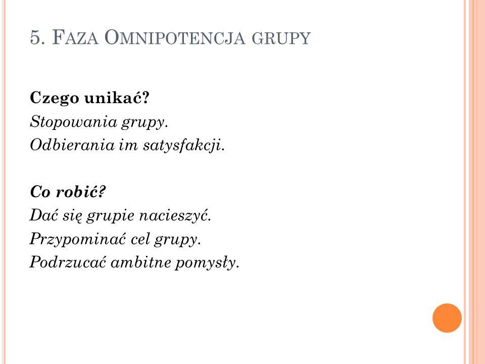 5. Faza Omnipotencja grupy
