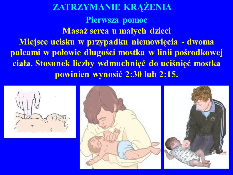 Masaż serca u małych dzieci