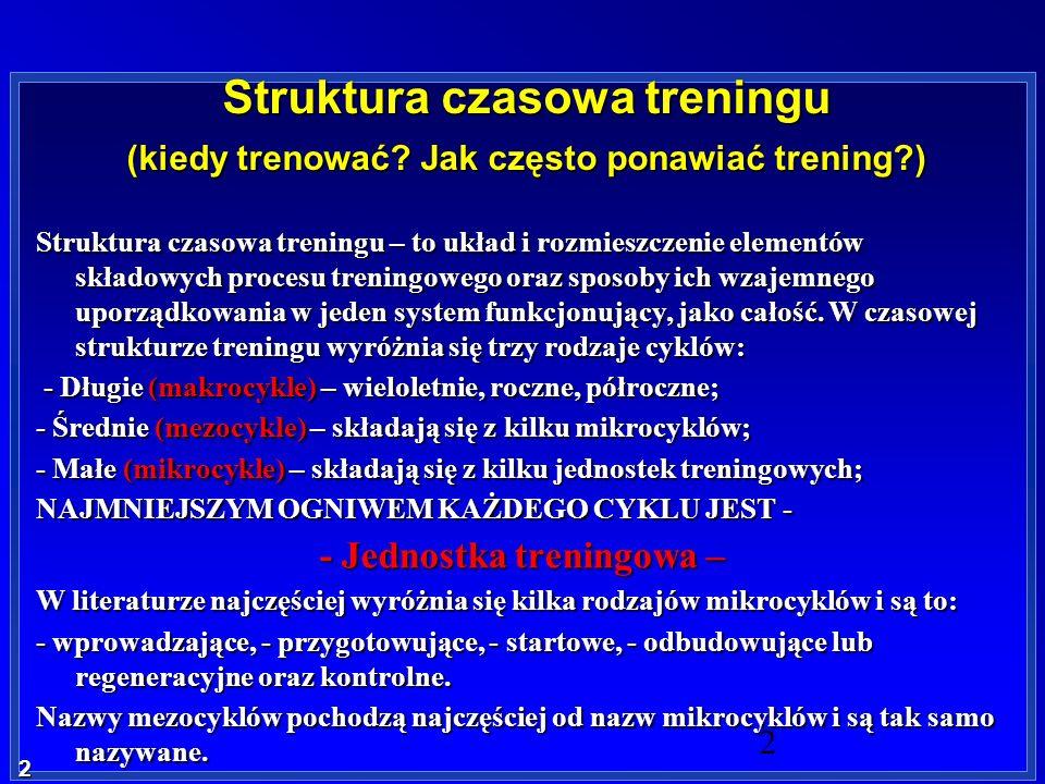 - Jednostka treningowa –