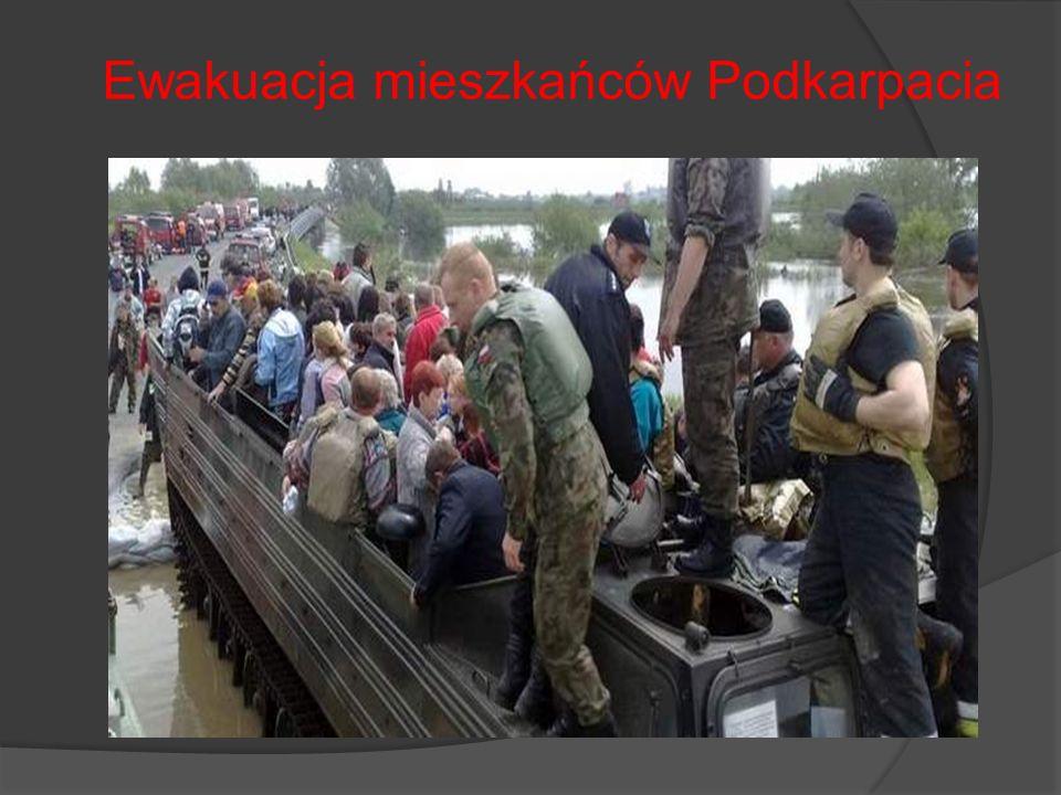 Ewakuacja mieszkańców Podkarpacia