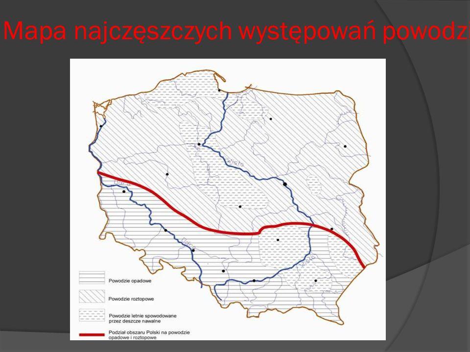 Mapa najczęszczych występowań powodzi