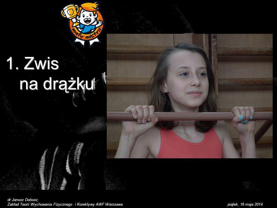 1. Zwis na drążku dr Janusz Dobosz,