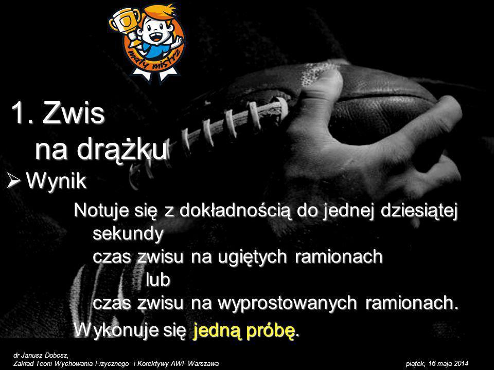1. Zwis na drążku Wynik.