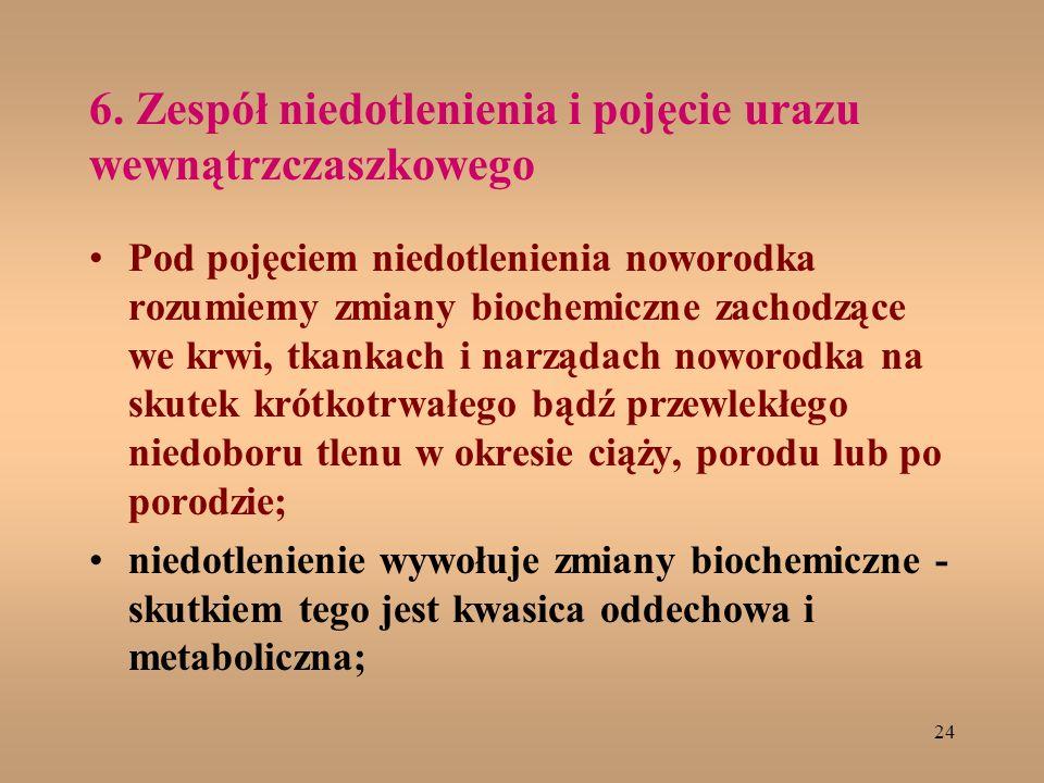 6. Zespół niedotlenienia i pojęcie urazu wewnątrzczaszkowego