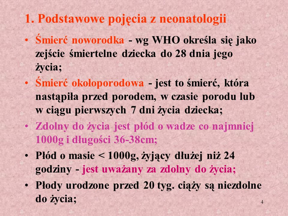 1. Podstawowe pojęcia z neonatologii