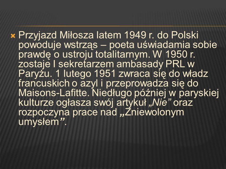 Przyjazd Miłosza latem 1949 r