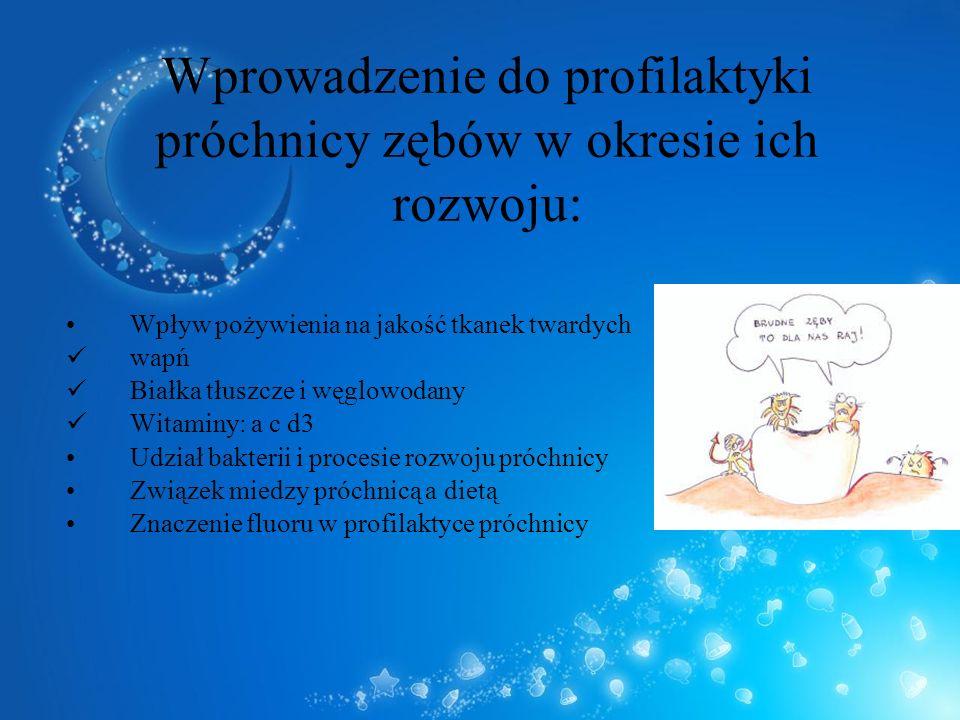 Wprowadzenie do profilaktyki próchnicy zębów w okresie ich rozwoju: