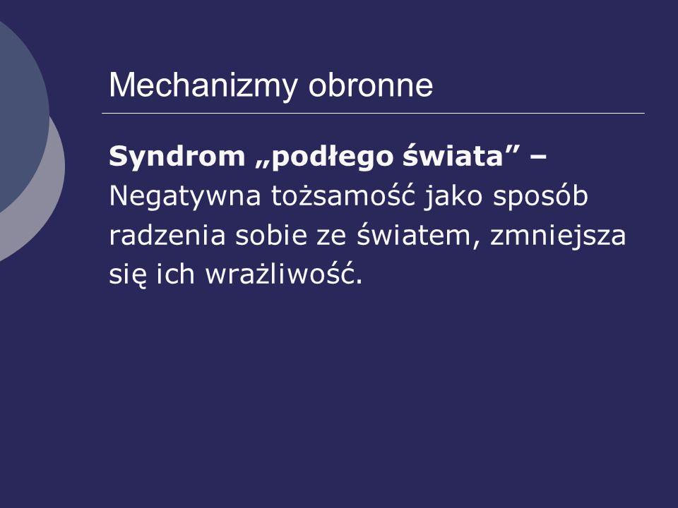"""Mechanizmy obronne Syndrom """"podłego świata –"""