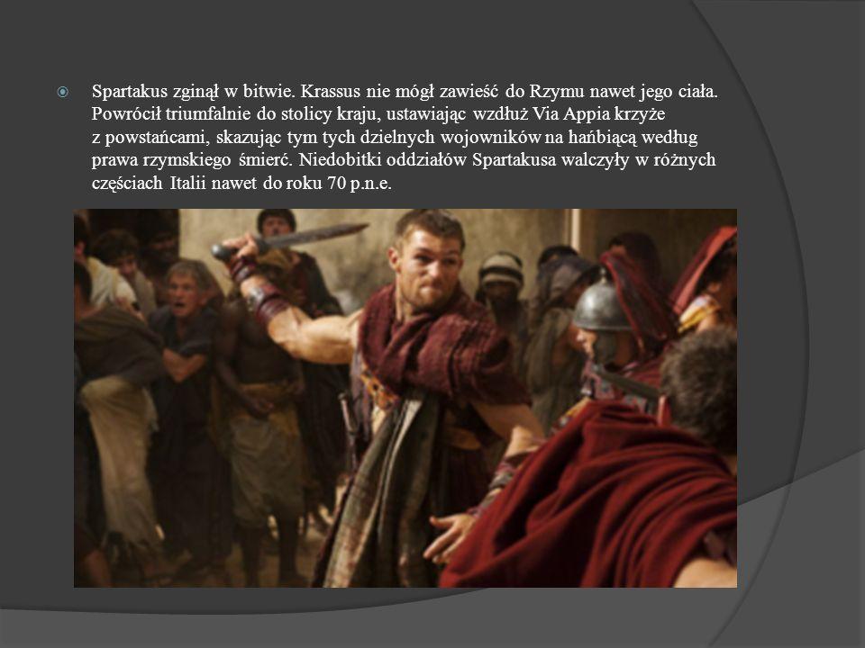 Spartakus zginął w bitwie