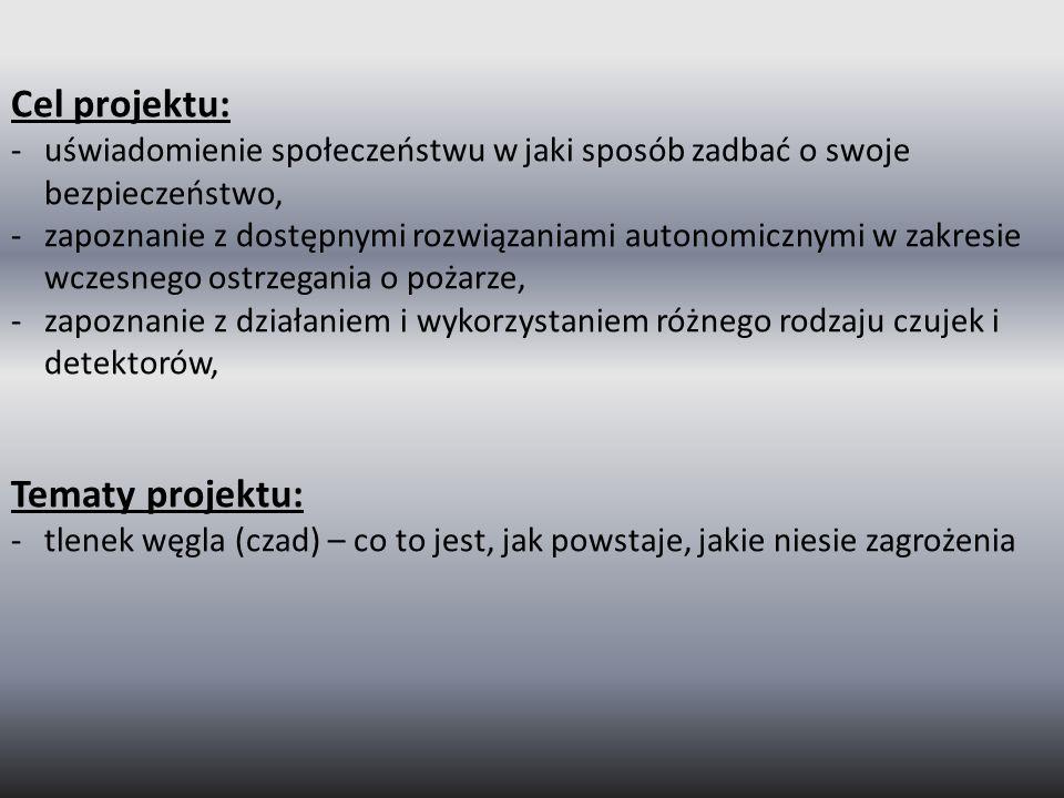 Cel projektu: Tematy projektu:
