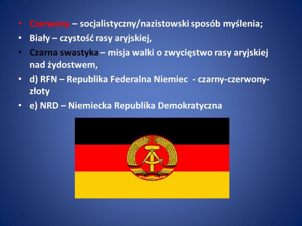 Czerwony – socjalistyczny/nazistowski sposób myślenia;