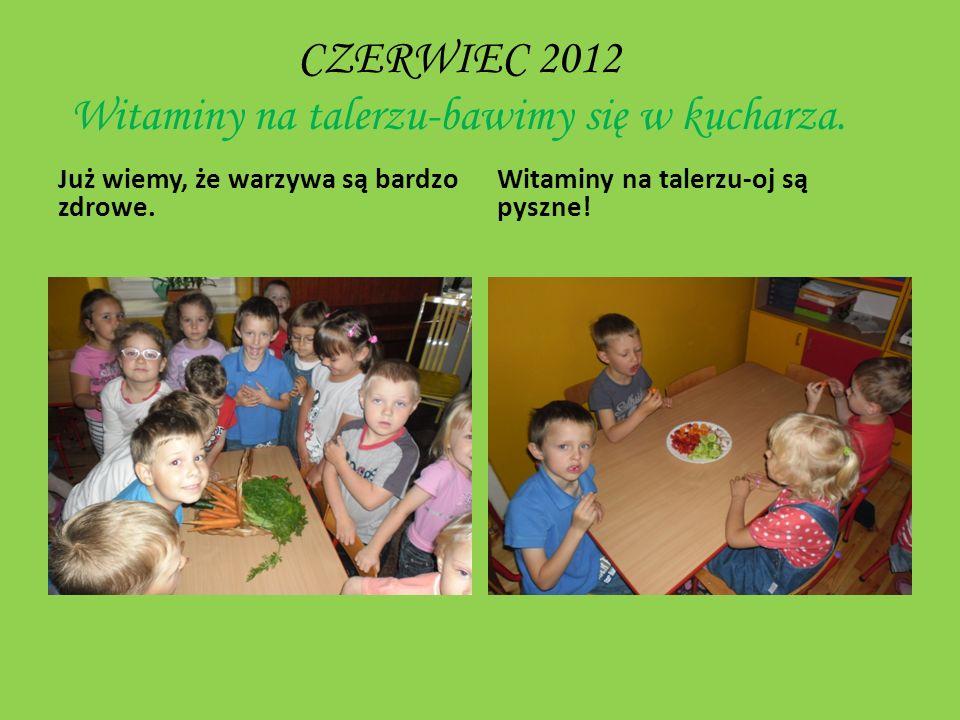 CZERWIEC 2012 Witaminy na talerzu-bawimy się w kucharza.
