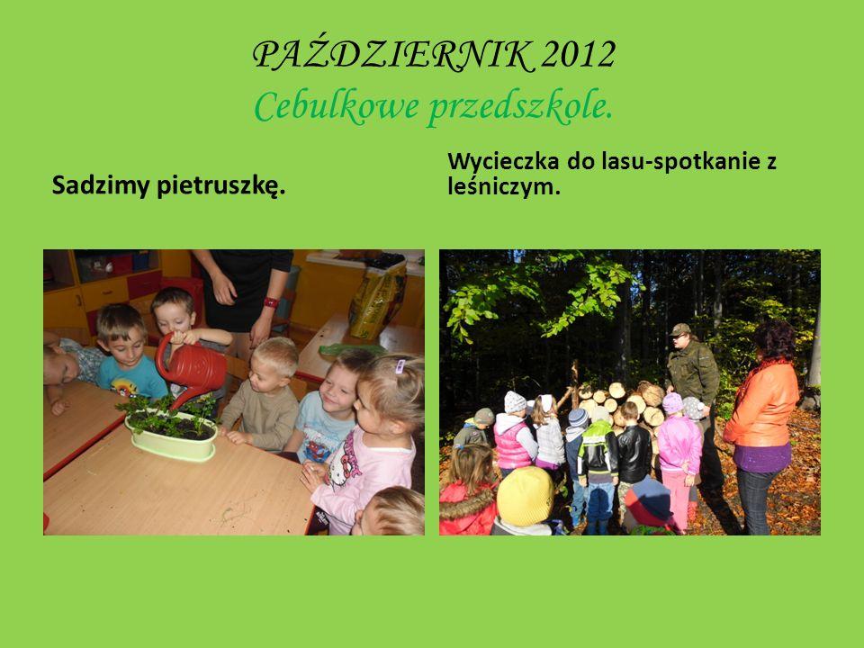 PAŹDZIERNIK 2012 Cebulkowe przedszkole.