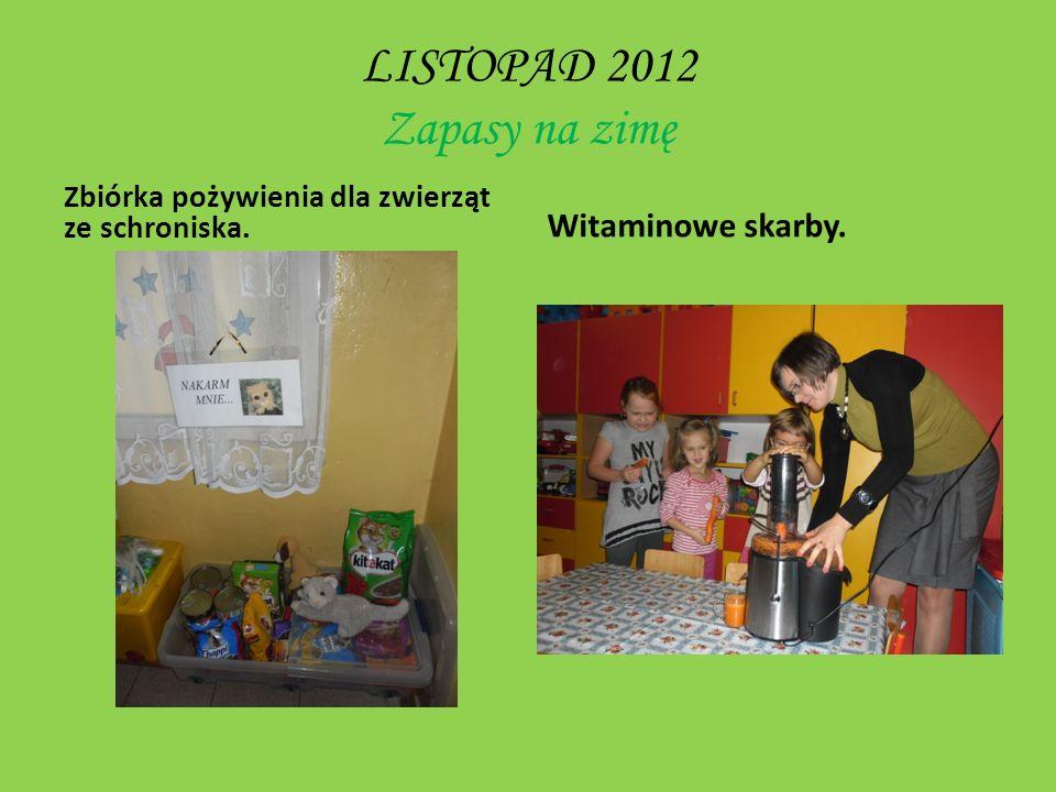 LISTOPAD 2012 Zapasy na zimę