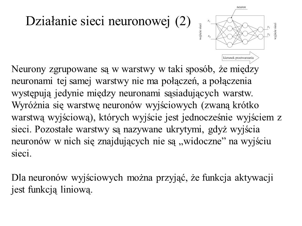 Działanie sieci neuronowej (2)