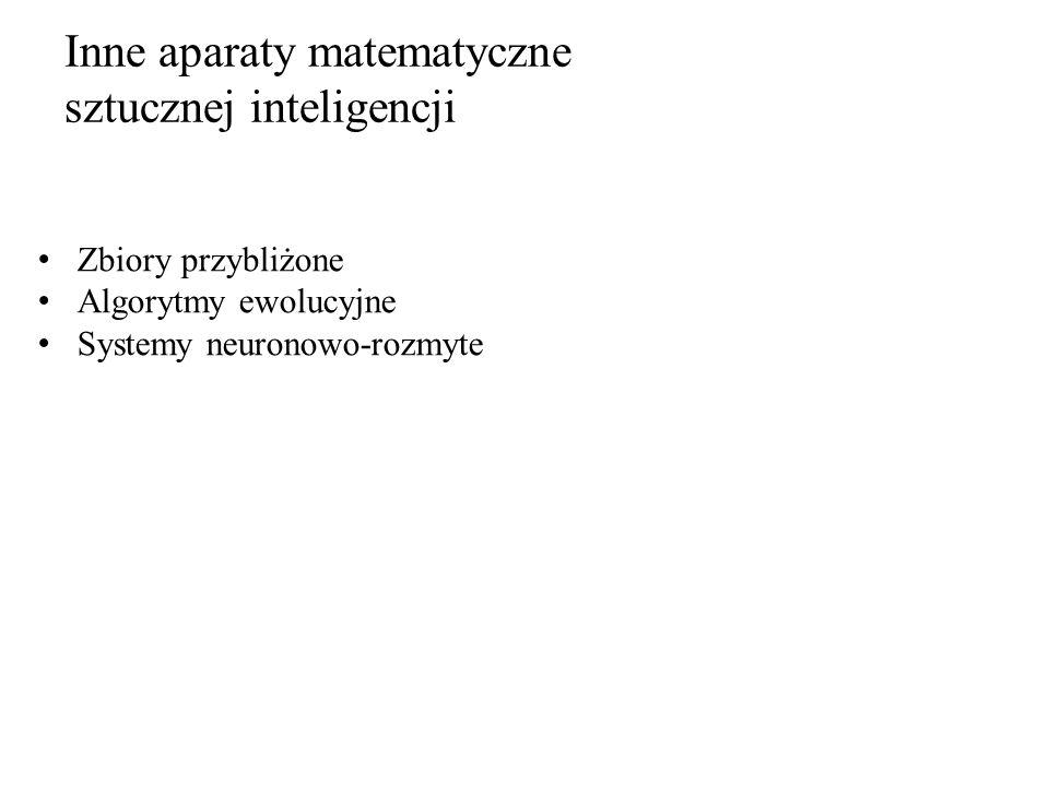 Inne aparaty matematyczne sztucznej inteligencji