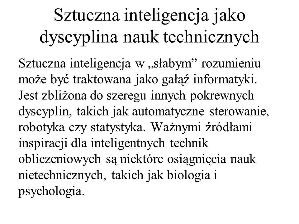 Sztuczna inteligencja jako dyscyplina nauk technicznych