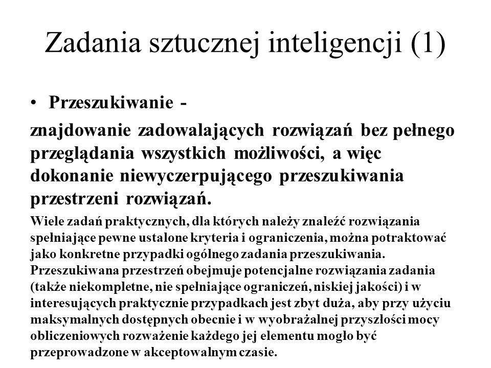 Zadania sztucznej inteligencji (1)