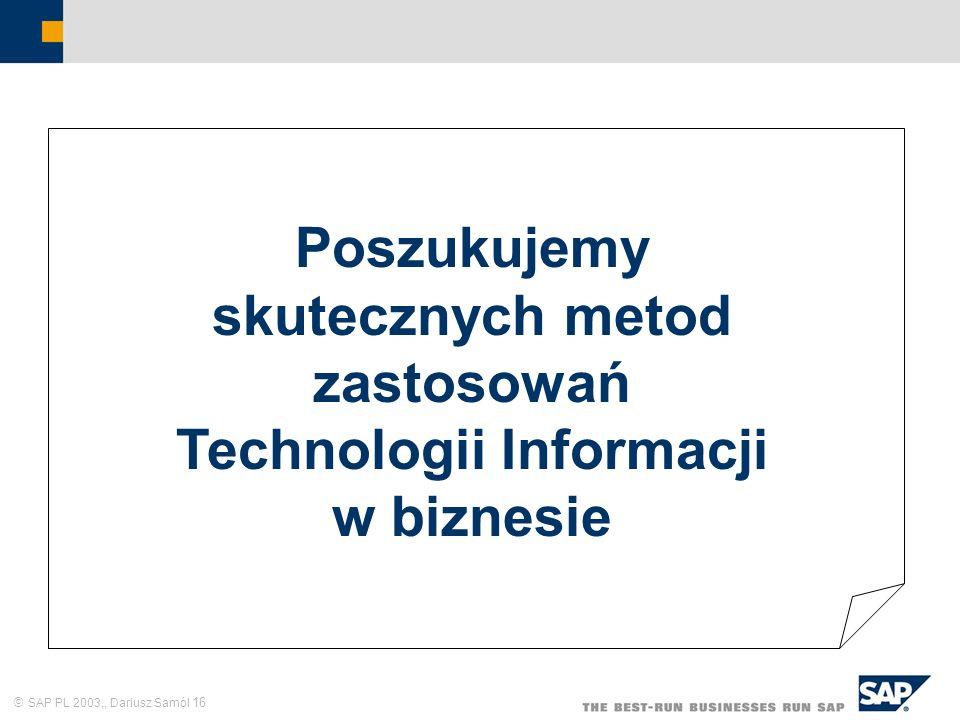 Poszukujemy skutecznych metod zastosowań Technologii Informacji w biznesie