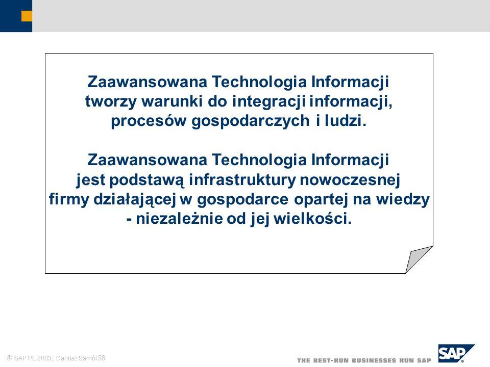 Zaawansowana Technologia Informacji tworzy warunki do integracji informacji, procesów gospodarczych i ludzi.