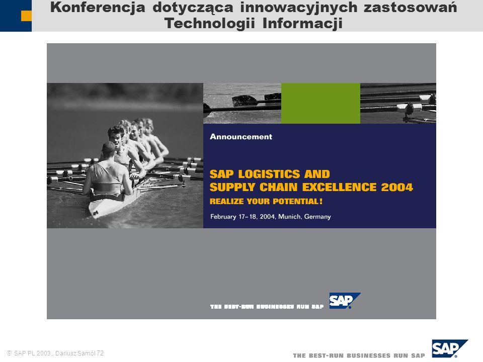 Konferencja dotycząca innowacyjnych zastosowań Technologii Informacji