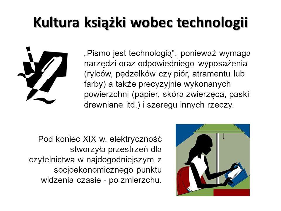 Kultura książki wobec technologii