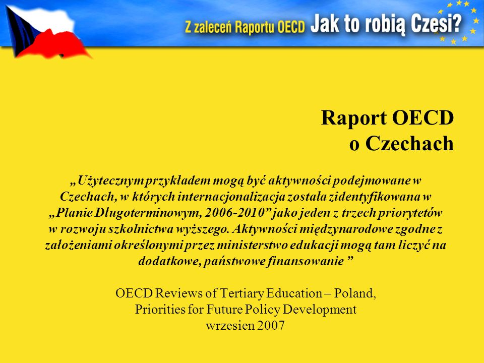 Raport OECD o Czechach