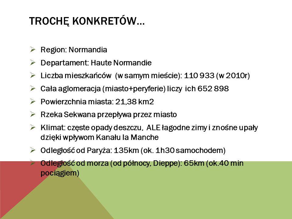 TrochĘ konkretów… Region: Normandia Departament: Haute Normandie
