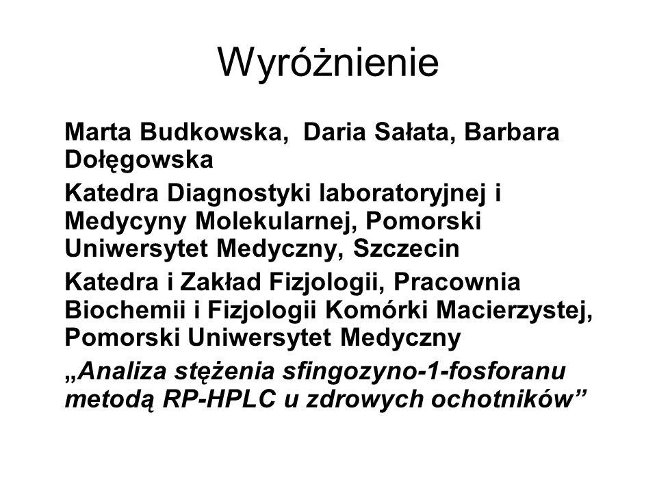 Wyróżnienie Marta Budkowska, Daria Sałata, Barbara Dołęgowska