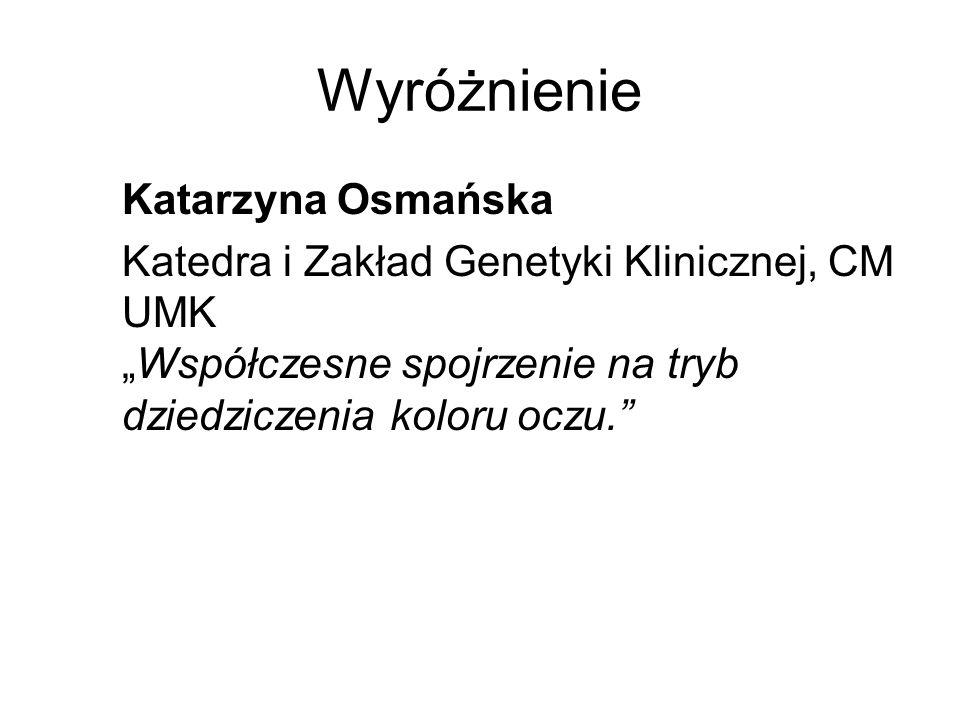 Wyróżnienie Katarzyna Osmańska