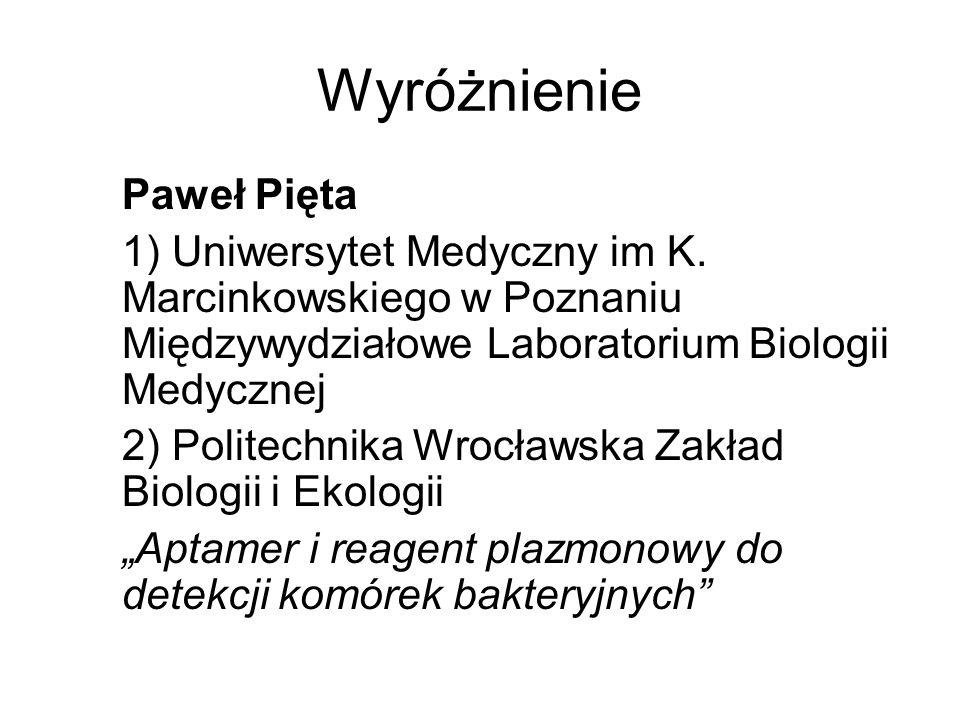 Wyróżnienie Paweł Pięta