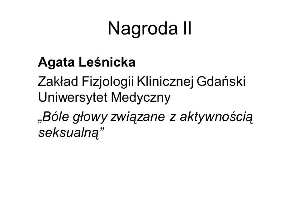 Nagroda II Agata Leśnicka