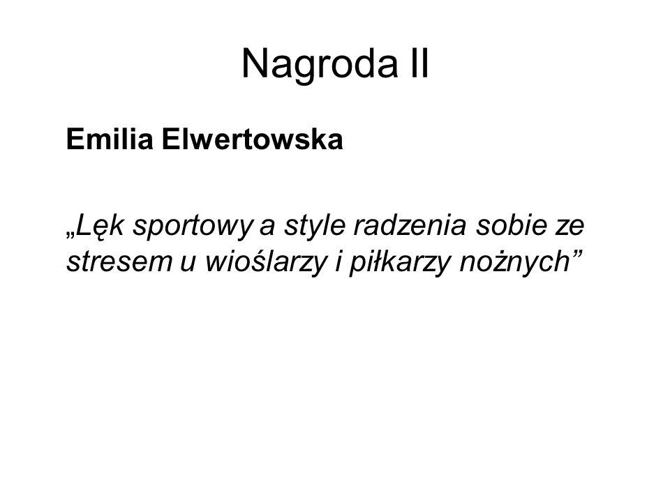 Nagroda II Emilia Elwertowska