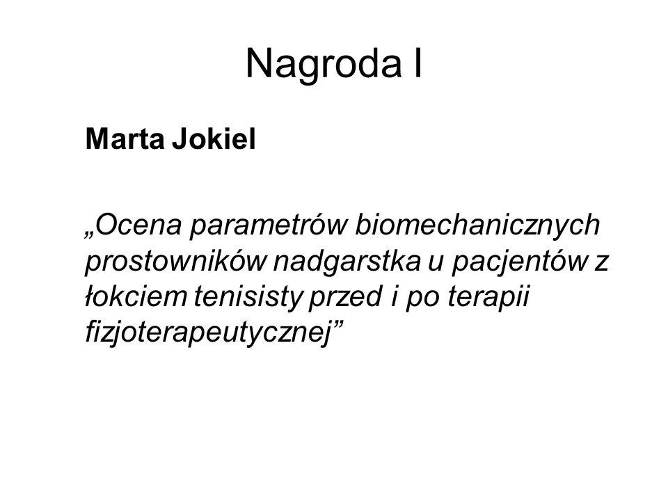 Nagroda I Marta Jokiel.